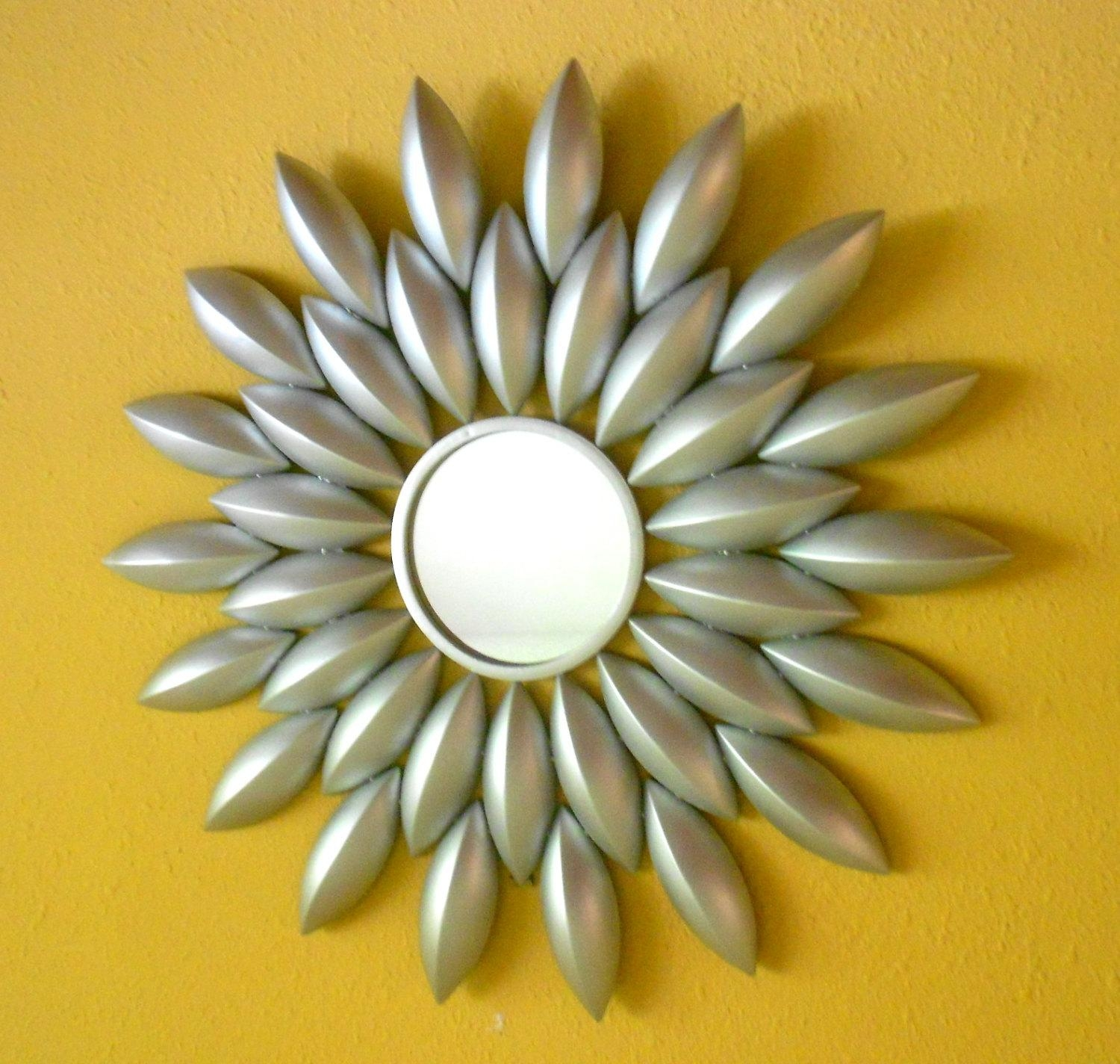 33 Wall Mirrorsunburst Mirror Silver Mirror Round Intended For Large Round Wall Art (Image 1 of 20)