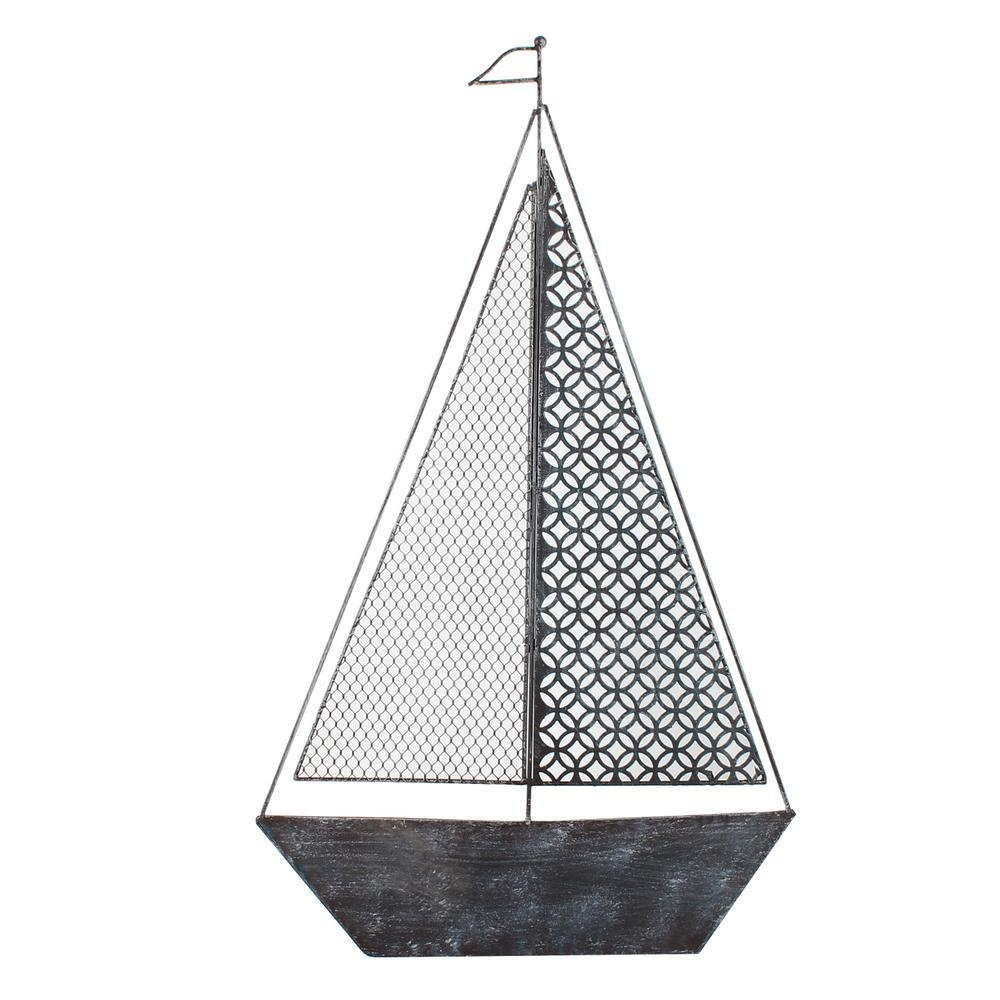 36 In. X 36 In. Modern Starburst Metal Wall Decor-Dn0012 - The with Sailboat Metal Wall Art