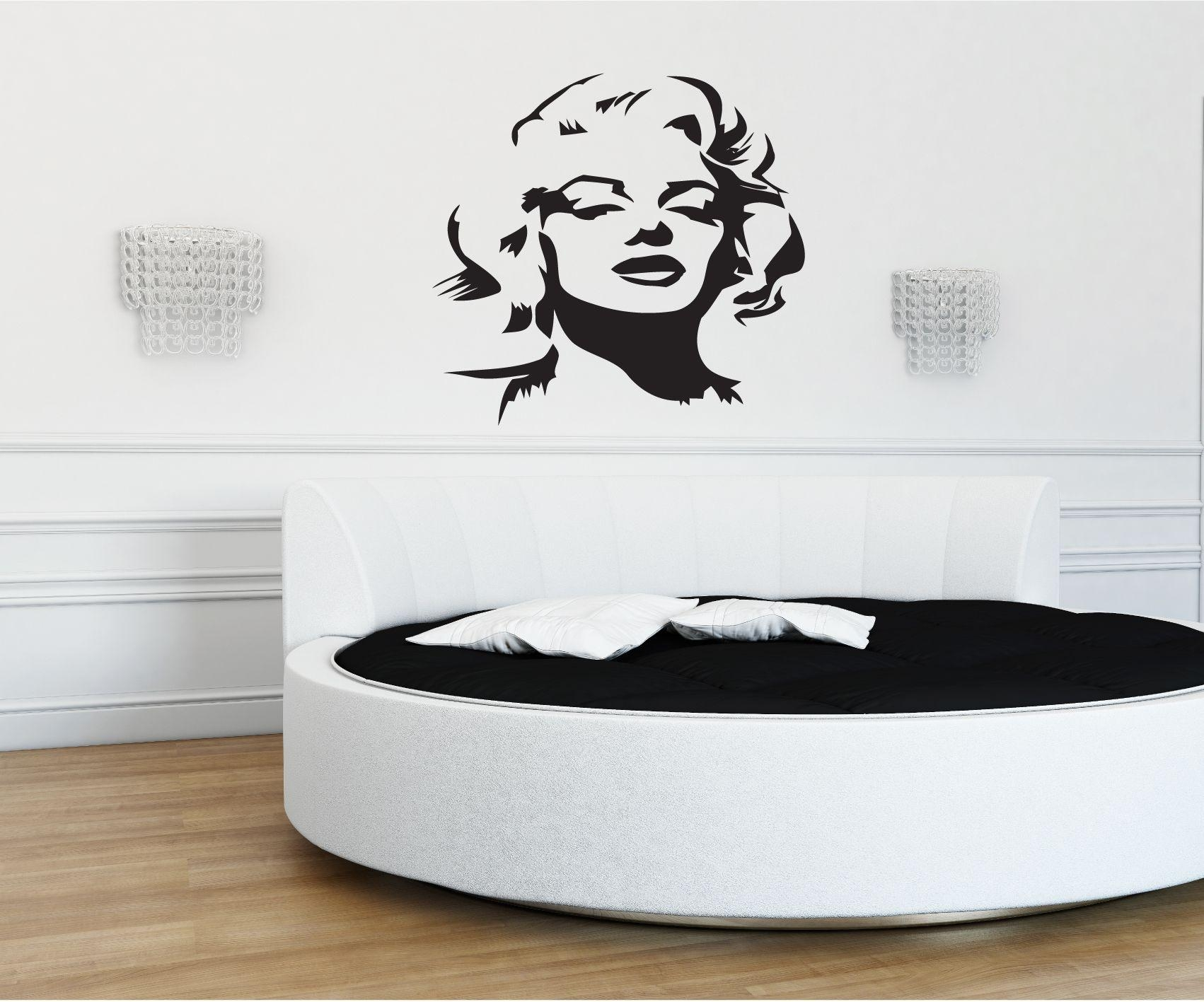 36 Marilyn Monroe Wall Decal, Large Wall Decals Large Marilyn for Marilyn Monroe Wall Art