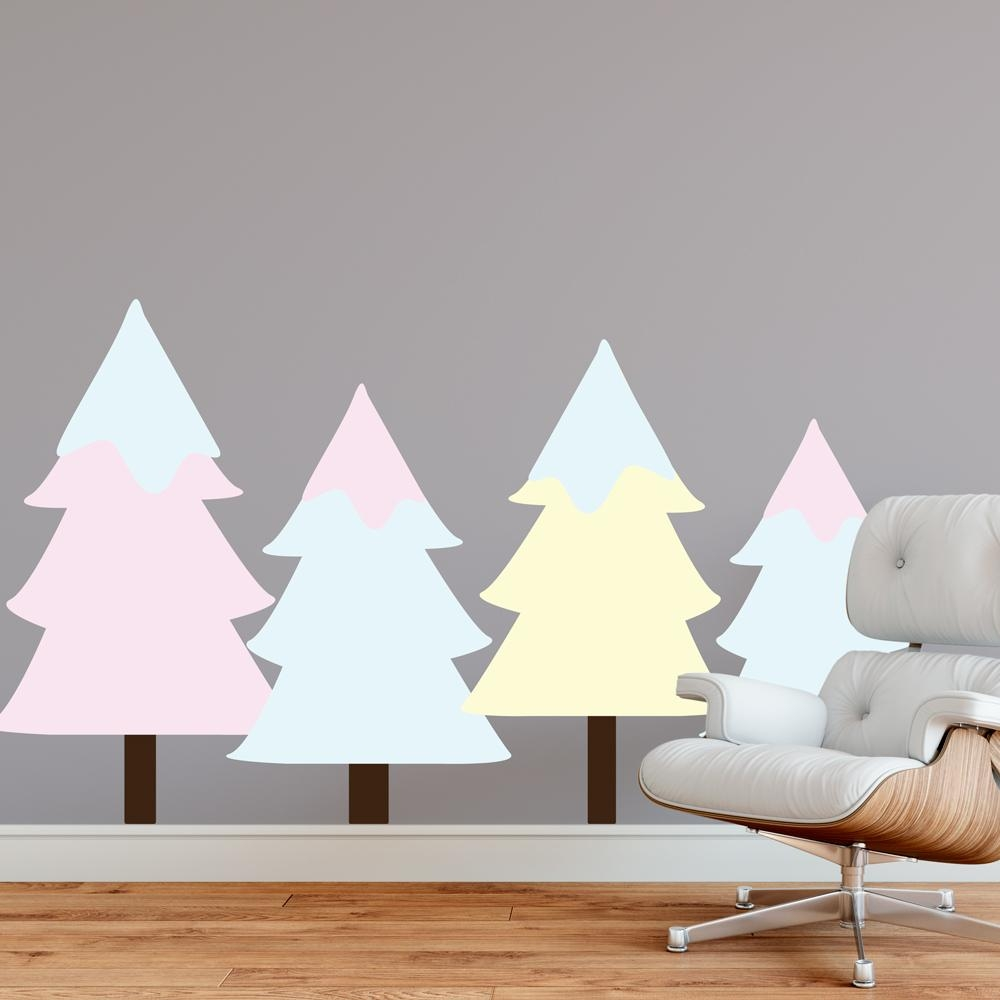 36 Pine Tree Wall Decal, Pine Tree Wall Decal Etsy – Artequals Within Pine Tree Wall Art (Image 2 of 20)