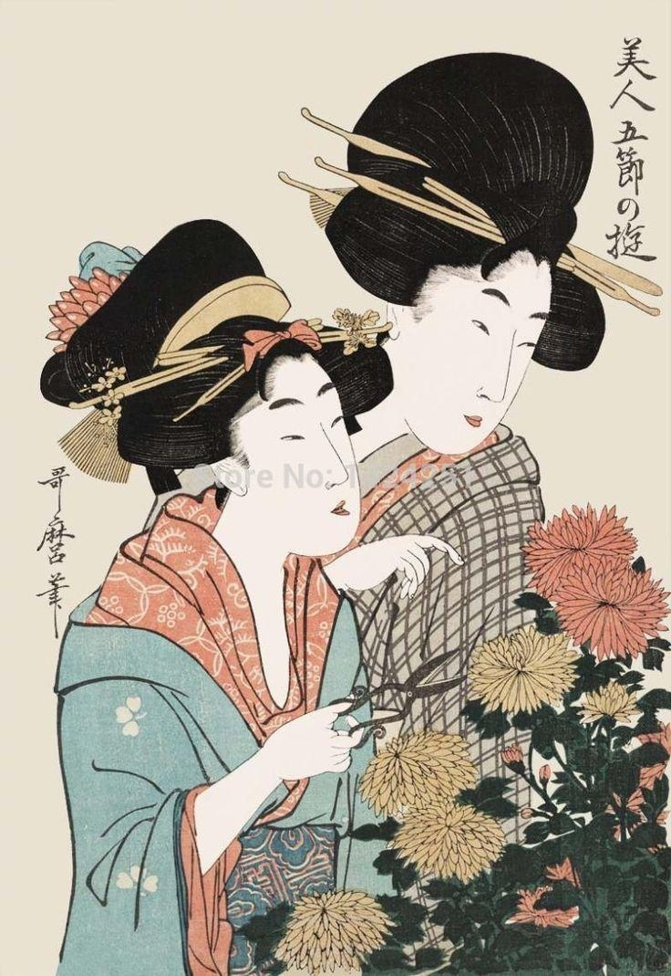 368 Best Geishes/ilustration Images On Pinterest | Geishas Inside Geisha Canvas Wall Art (Image 2 of 20)