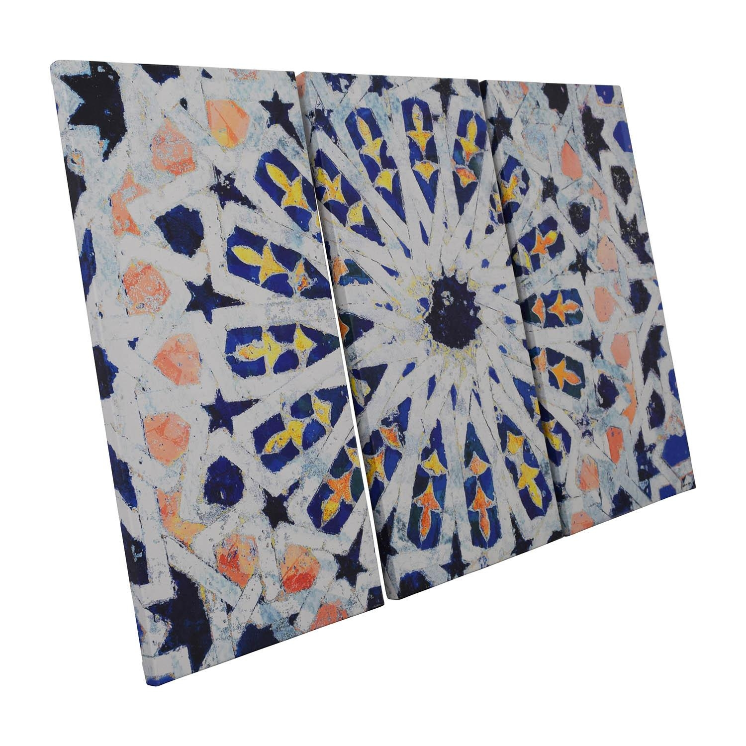 38% Off – Three Piece Kaleidoscope Wall Art / Decor Throughout Kaleidoscope Wall Art (Image 6 of 20)