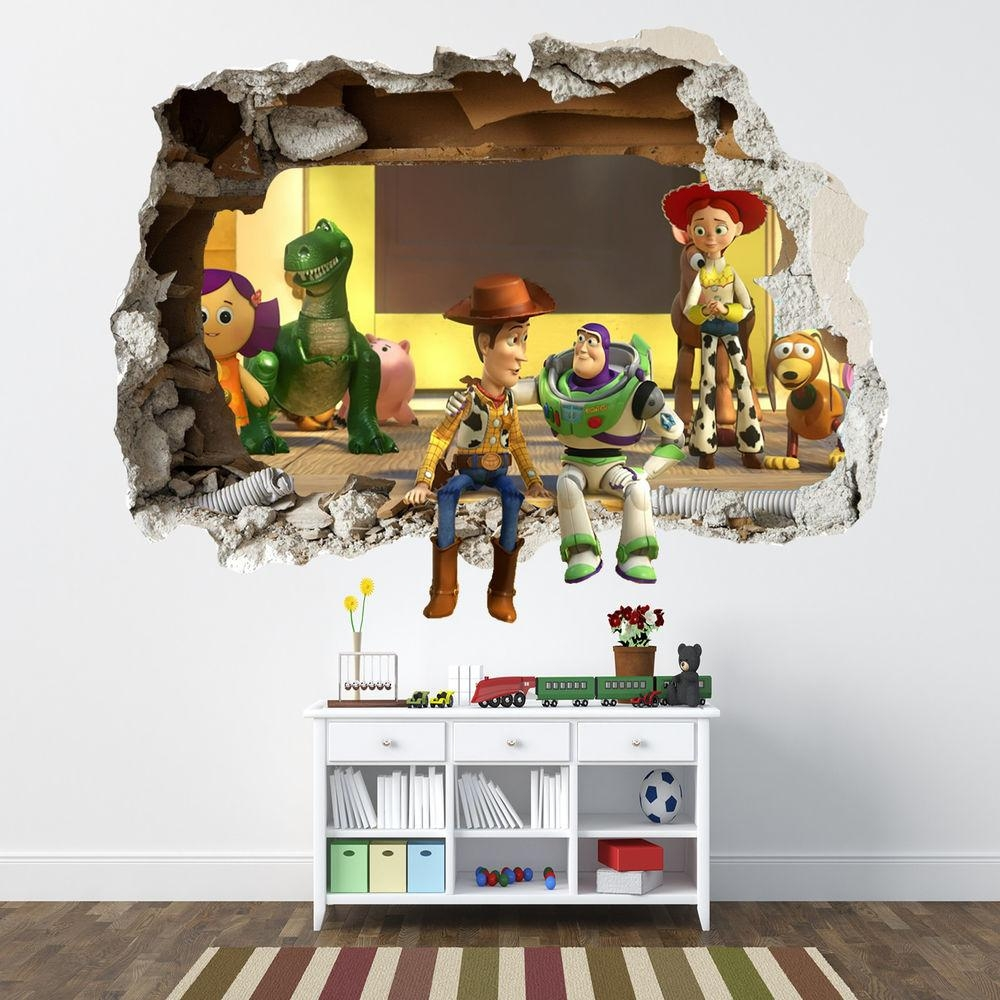 39 Toy Story Wall Decals, Toy Story Bedroom Decor Buzz Woody Giant regarding Toy Story Wall Stickers