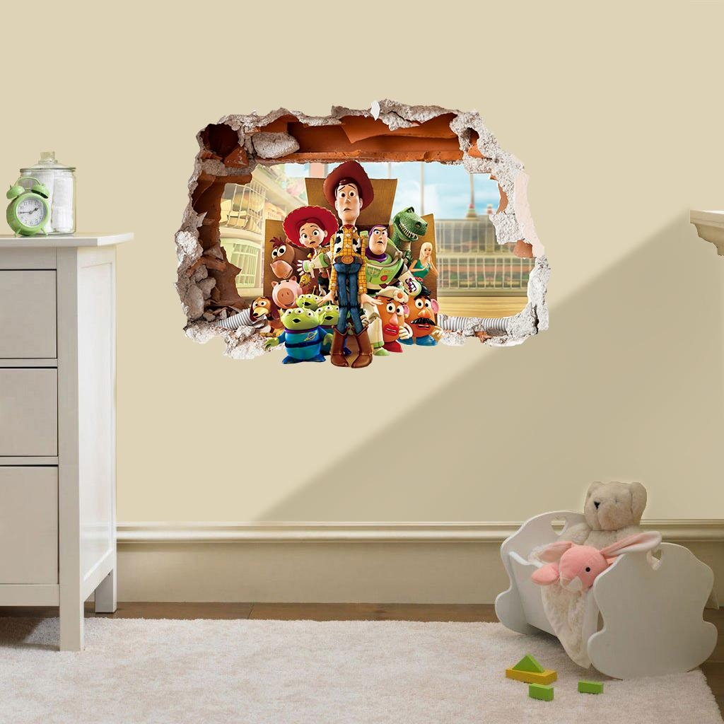 39 Toy Story Wall Decals, Toy Story Bedroom Decor Buzz Woody Giant Throughout Toy Story Wall Art (View 2 of 20)