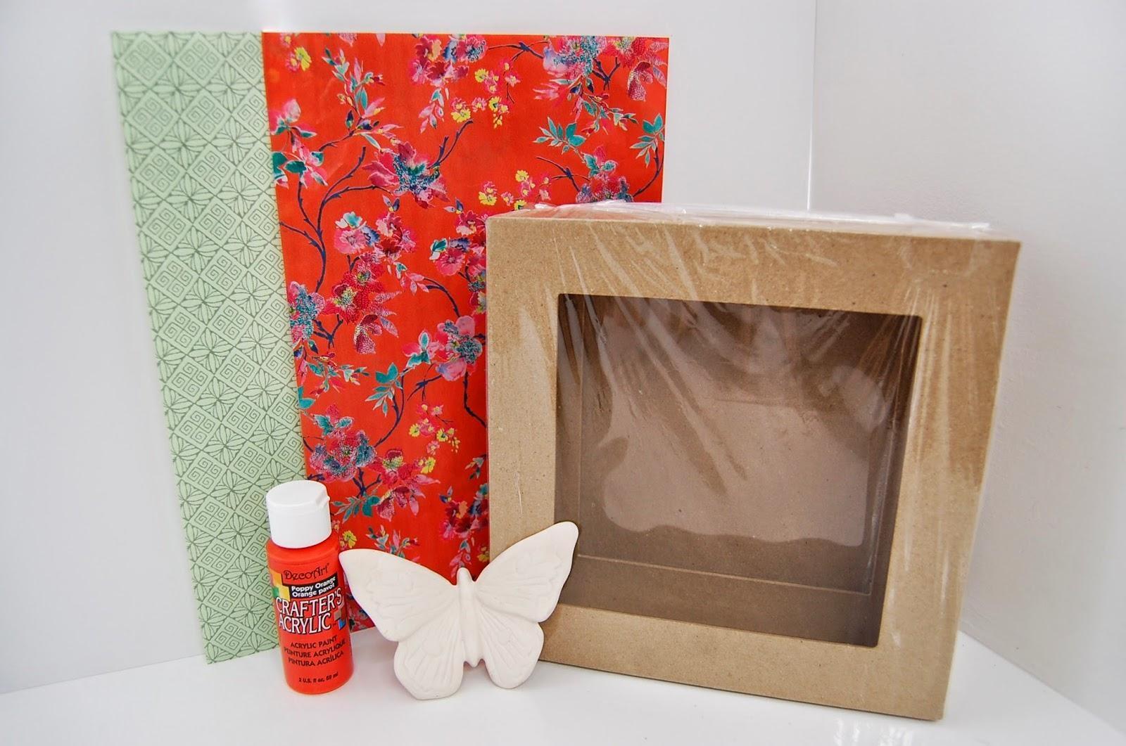 3D Box Frame Decoupage/decopatch Makeover Wall Art Idea Regarding Decoupage Wall Art (Image 1 of 20)