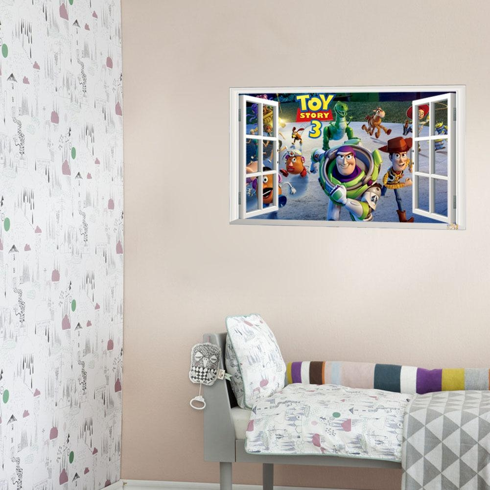 3D Cartoon Europe And The United States Toy Story Wall Stickers Within Toy Story Wall Stickers (Image 3 of 20)