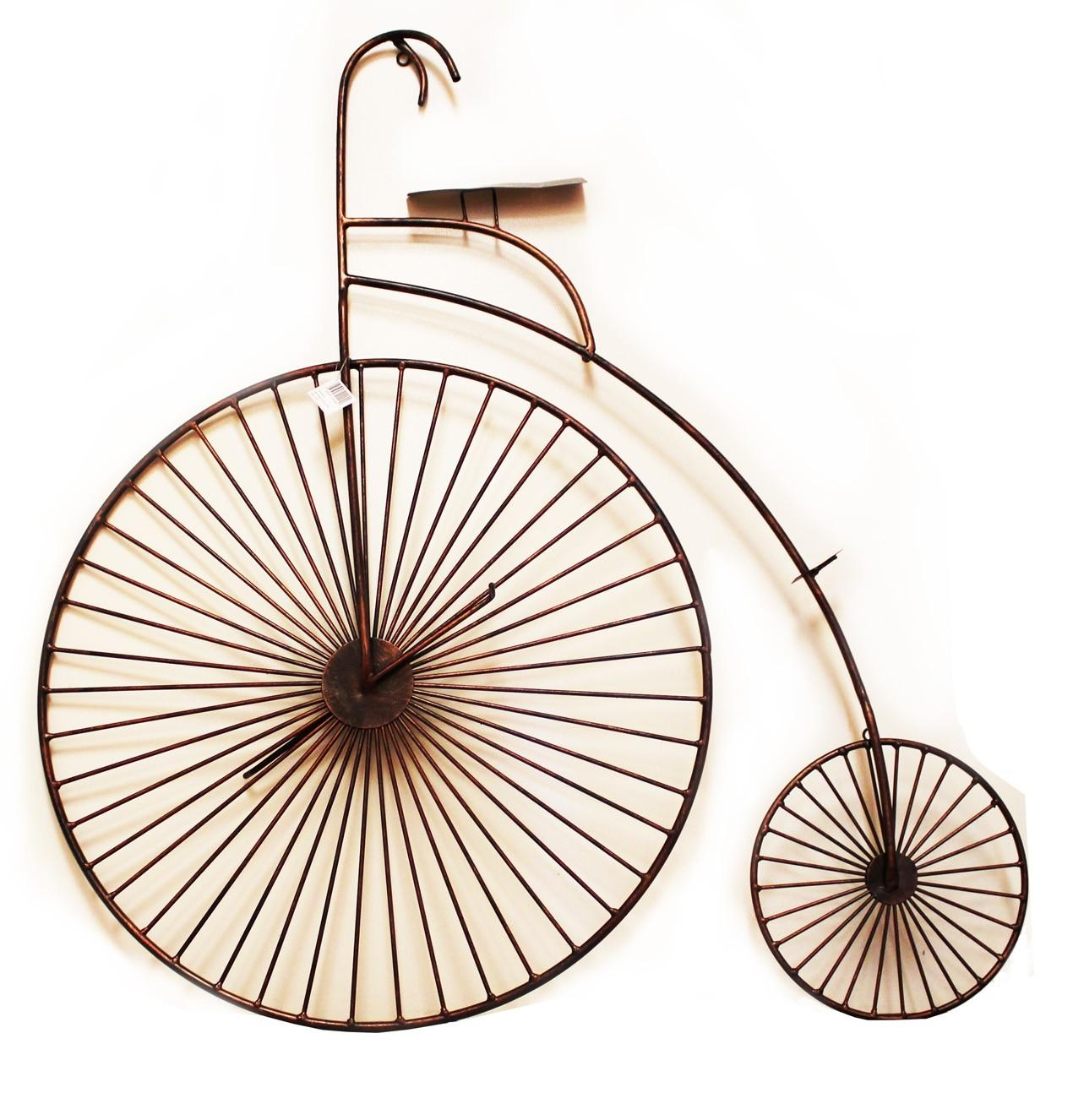 3D Copper Tone Bicycle Wall Art | Unique Metal Wall Art | Wall Decor Regarding Metal Bicycle Wall Art (Image 1 of 20)