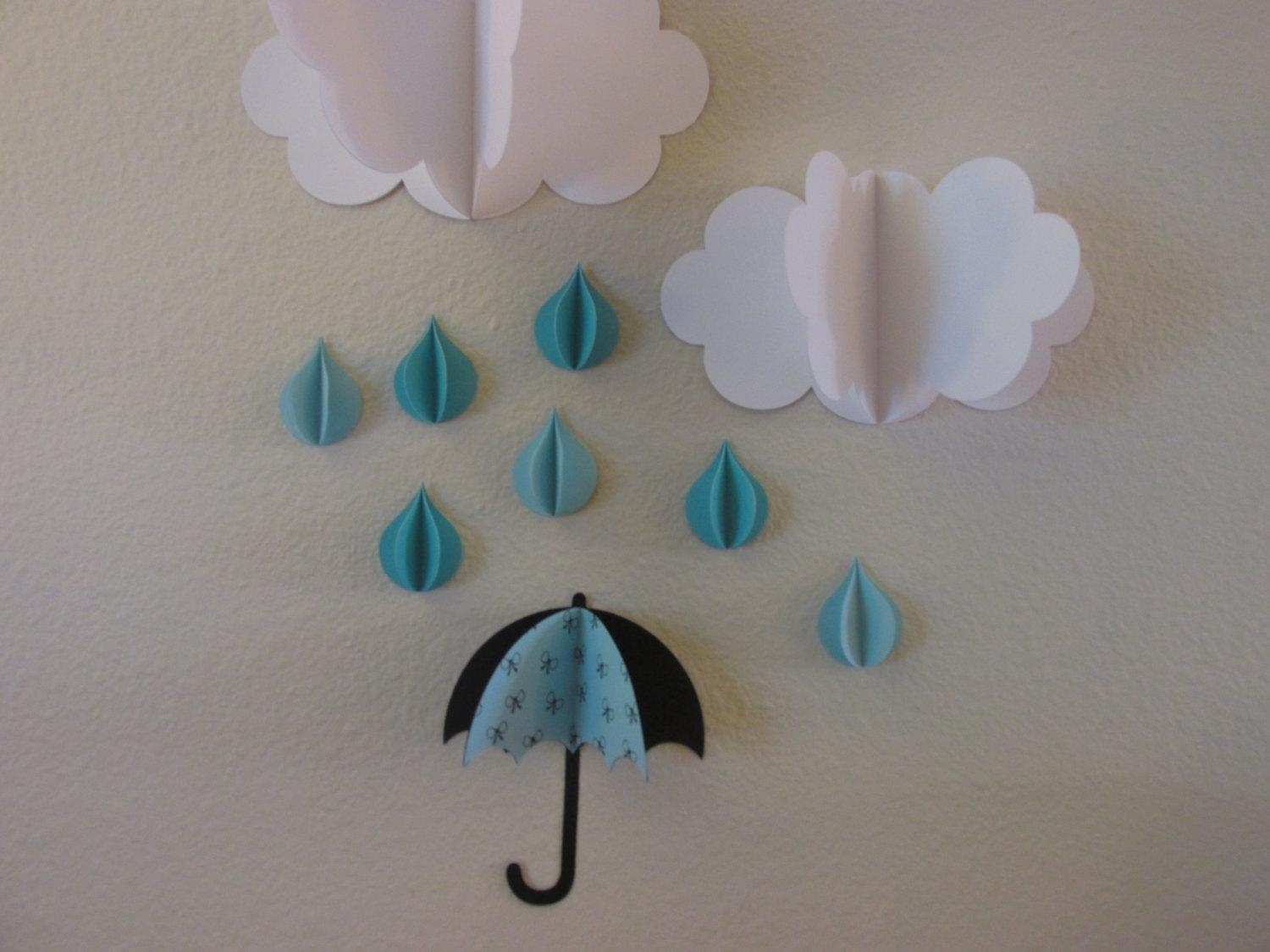 3D Wall Art 3D Baby Room Decoration Wall Art 3D Clouds Pertaining To 3D Clouds Out Of Paper Wall Art (Image 4 of 20)