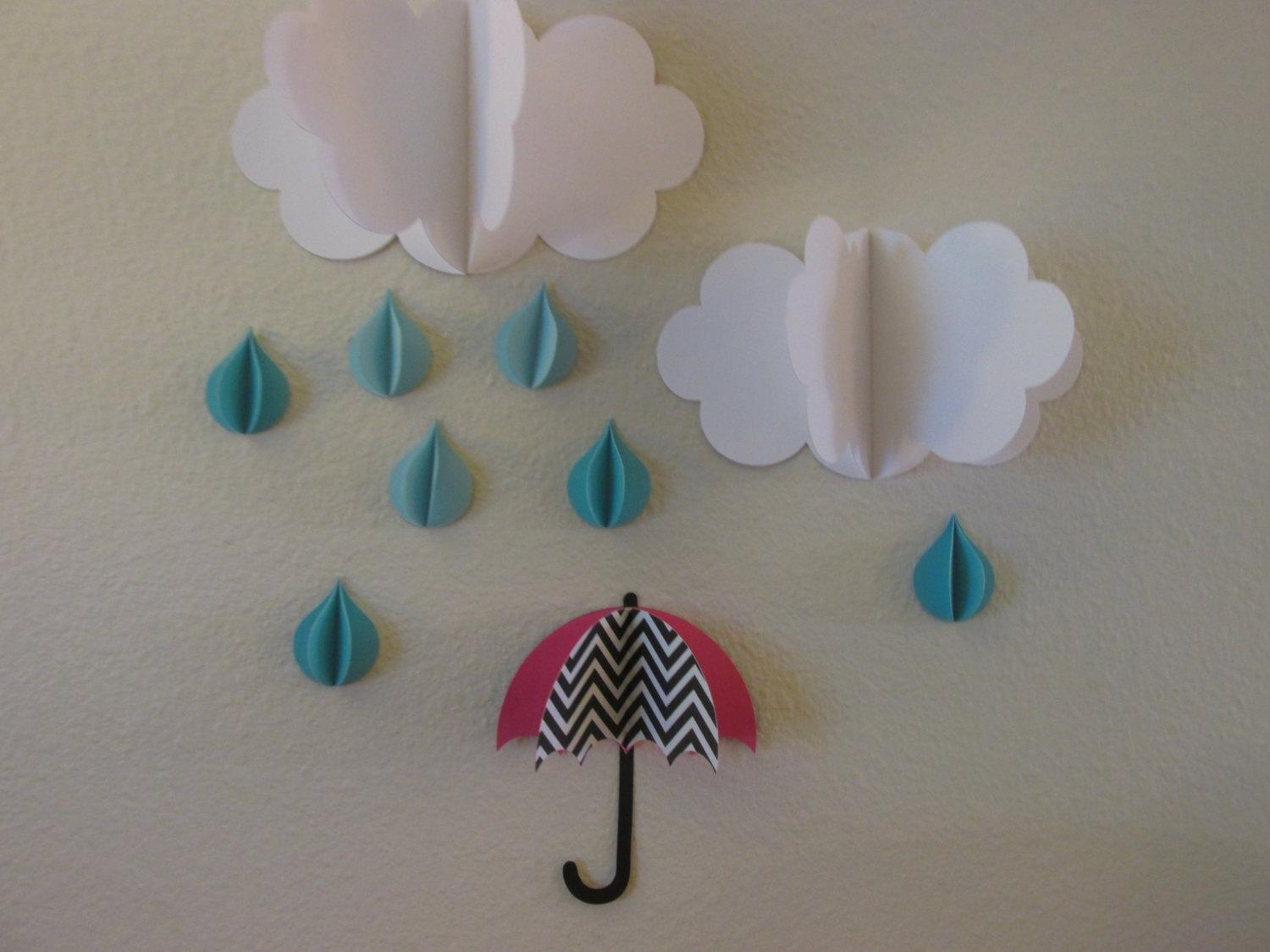 3D Wall Art 3D Baby Room Decoration Wall Art 3D Clouds With Regard To 3D Clouds Out Of Paper Wall Art (Image 6 of 20)