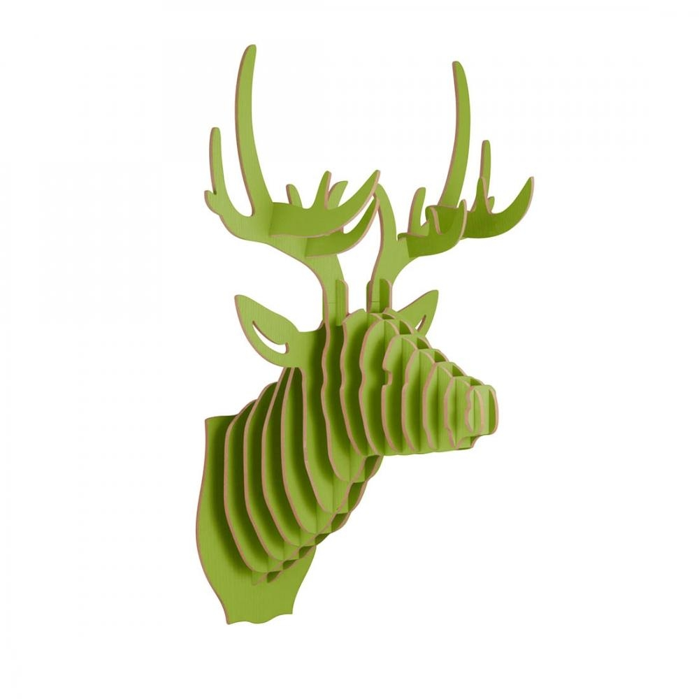 3D Wall Art Wooden Animal Head Stag Deer | Faux Taxidermy | Cult throughout Stag Wall Art