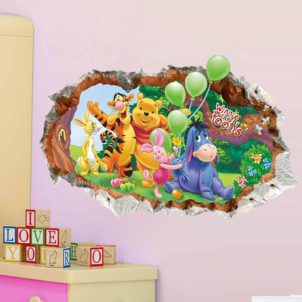 3D Winnie The Pooh Wall Stickers | Animals | Girls Room | Wall Decals For Winnie The Pooh Wall Decor (Image 2 of 20)