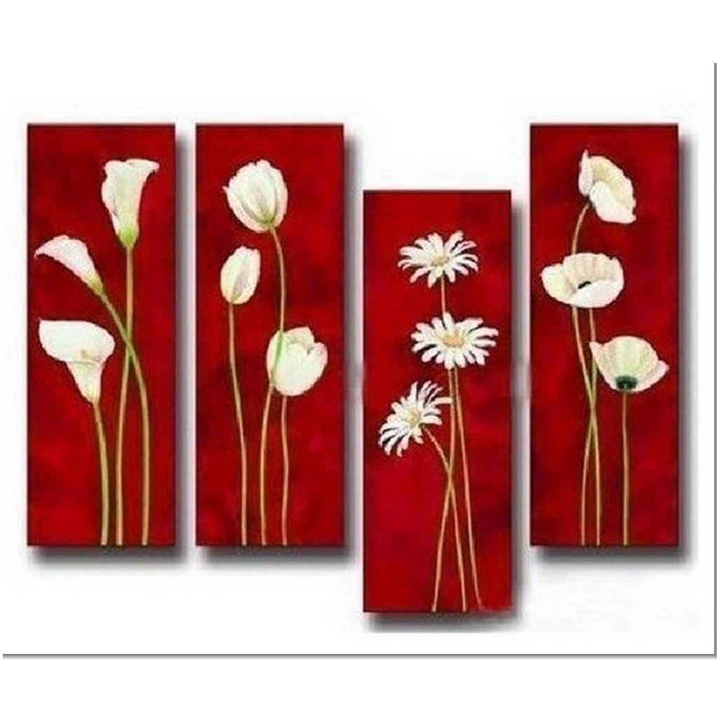 4 Piece Painting | Ivy Mosquito | Liberating My Creative Soul With Regard To Horizontal Canvas Wall Art (Image 1 of 20)