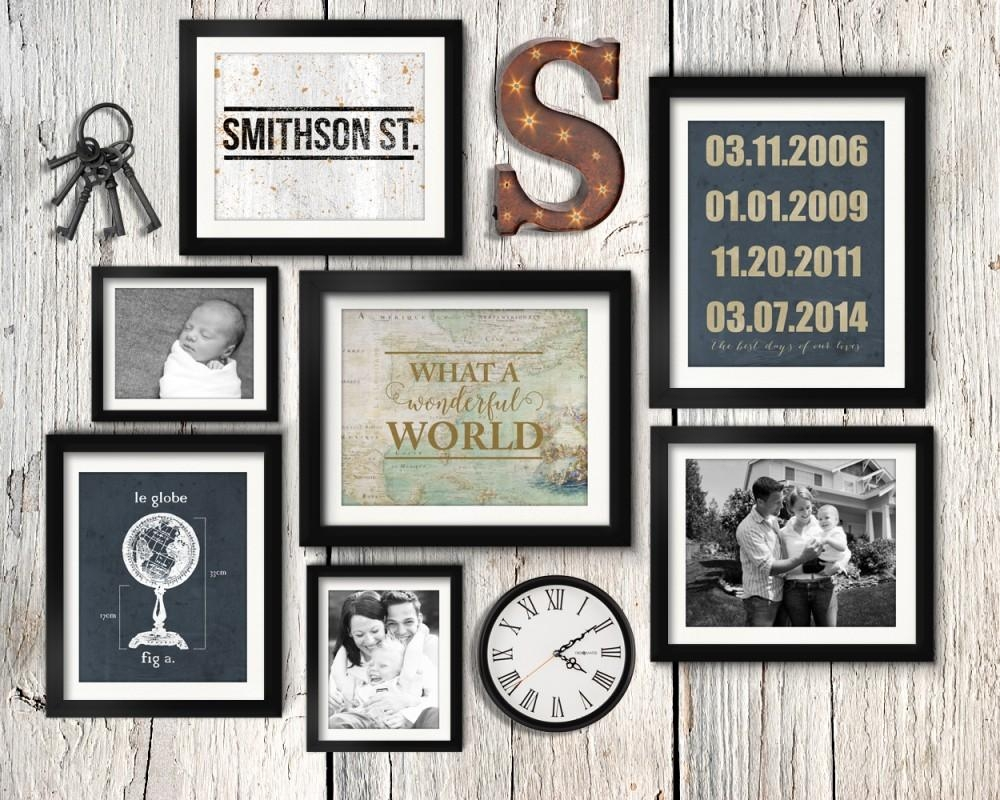 4 Simple Gallery Wall Tips + Gallery Wall Layout Ideas | The Diy Mommy inside Vintage Industrial Wall Art