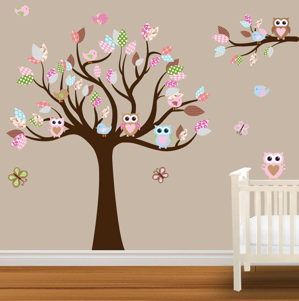 41 Baby Girl Wall Decals, Girl Vinyl Wall Decal ,nursery Mom Baby pertaining to Owl Wall Art Stickers