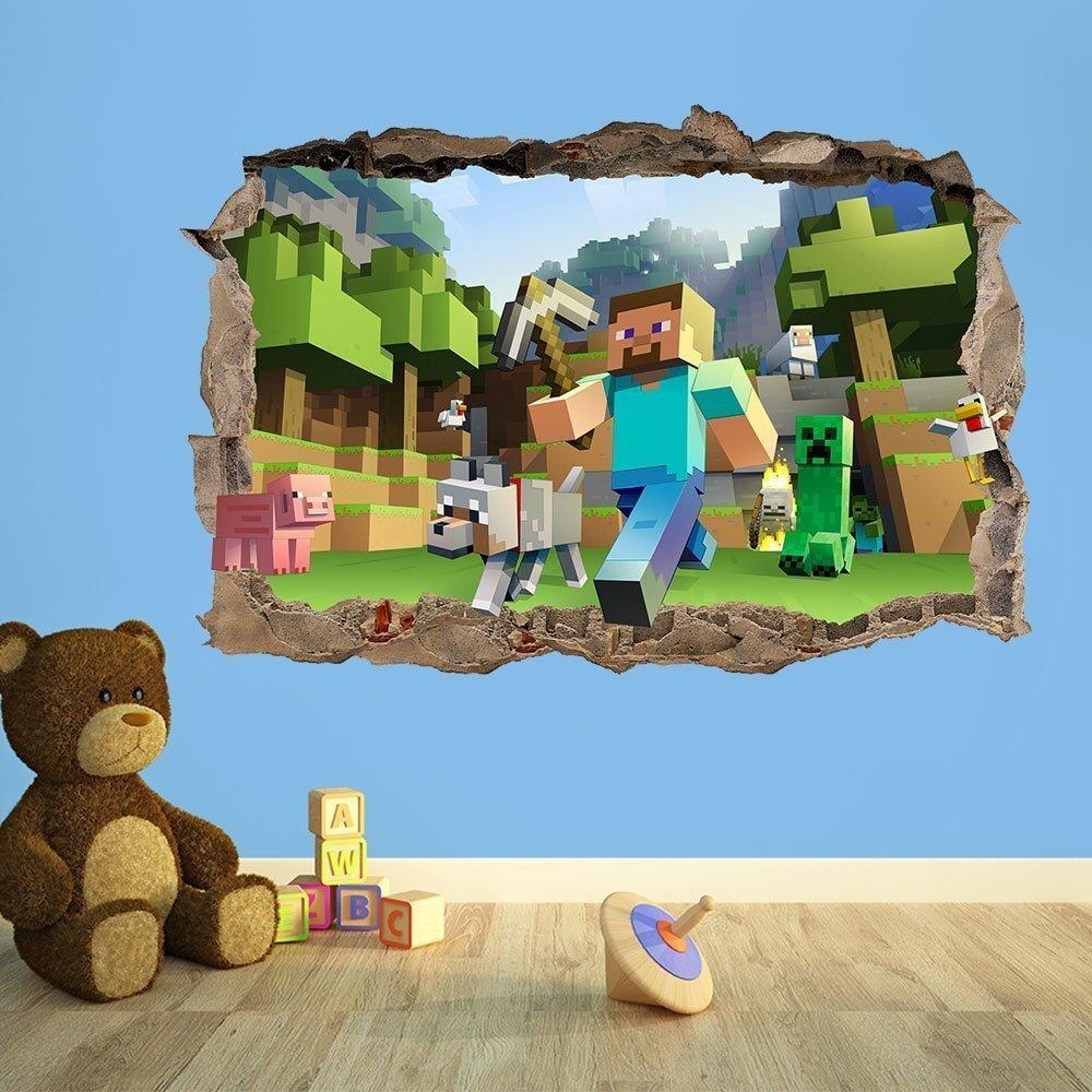 41 Minecraft Wall Decal, All Products / Home Decor / Wall Decor With Regard To Toy Story Wall Stickers (View 15 of 20)