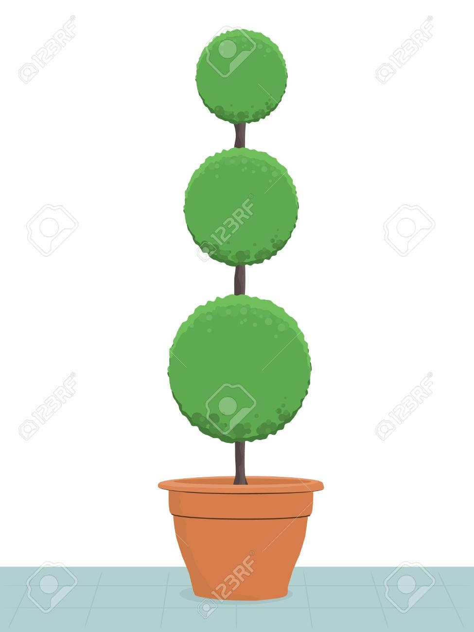 417 Topiary Stock Vector Illustration And Royalty Free Topiary Clipart In Topiary Wall Art (Image 2 of 20)