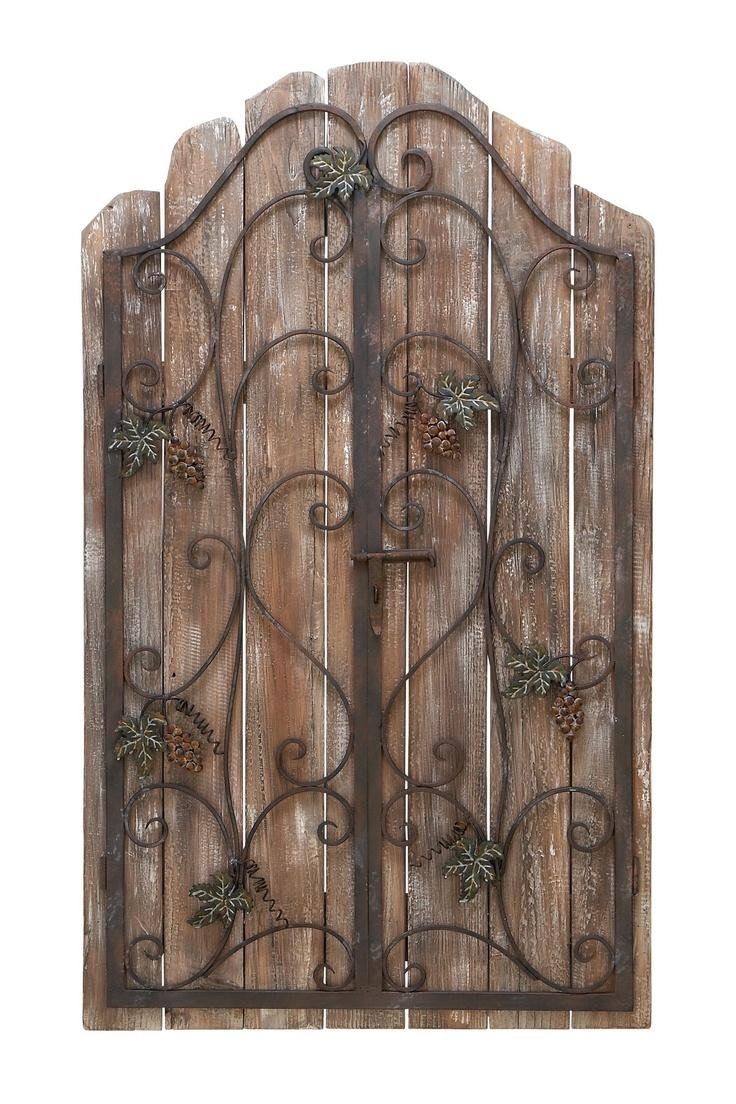 42 Best Wrought Iron Images On Pinterest | Wrought Iron, Outdoor Pertaining To Metal Gate Wall Art (Image 1 of 20)