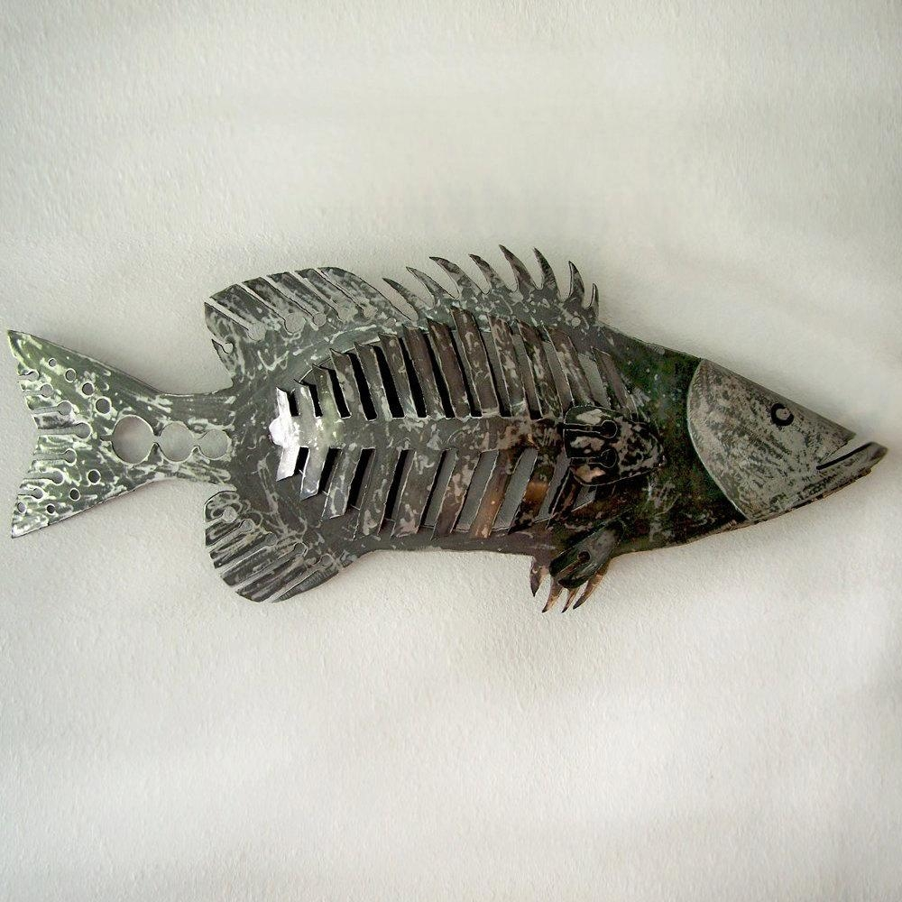 48 Giant Wall Mounted Fish Sculpture Huge Fish Wall with Fish Bone Wall Art