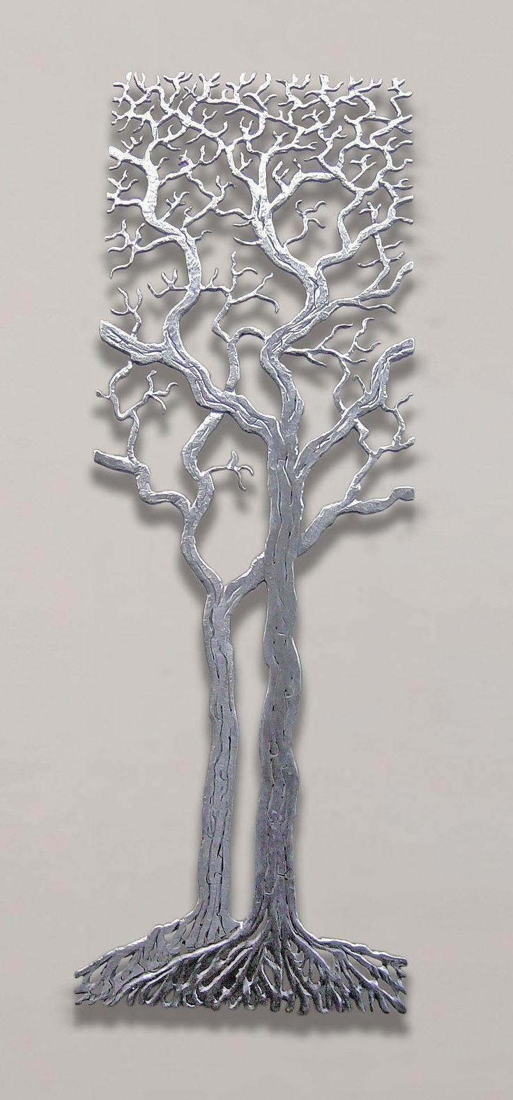 485 Best Tree Art Images On Pinterest | Tree Art, Metal Walls And Regarding Metal Oak Tree Wall Art (Image 1 of 20)