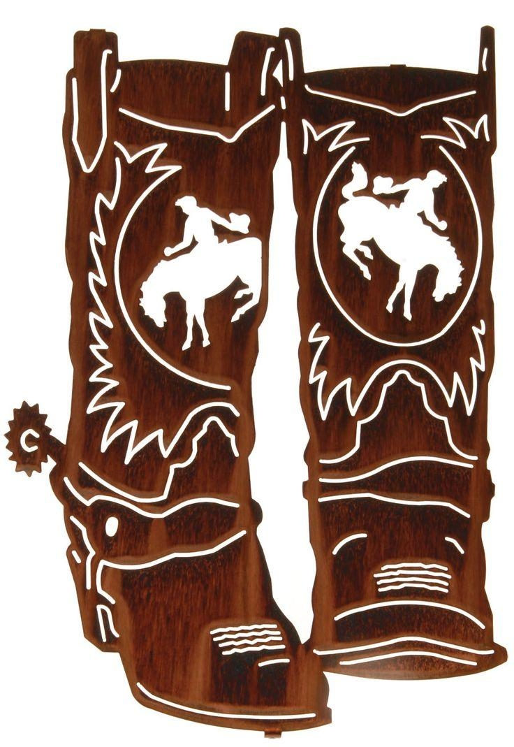 49 Best Silhouette – Cowboy Images On Pinterest | Silhouette Regarding Western Metal Wall Art Silhouettes (Image 3 of 20)