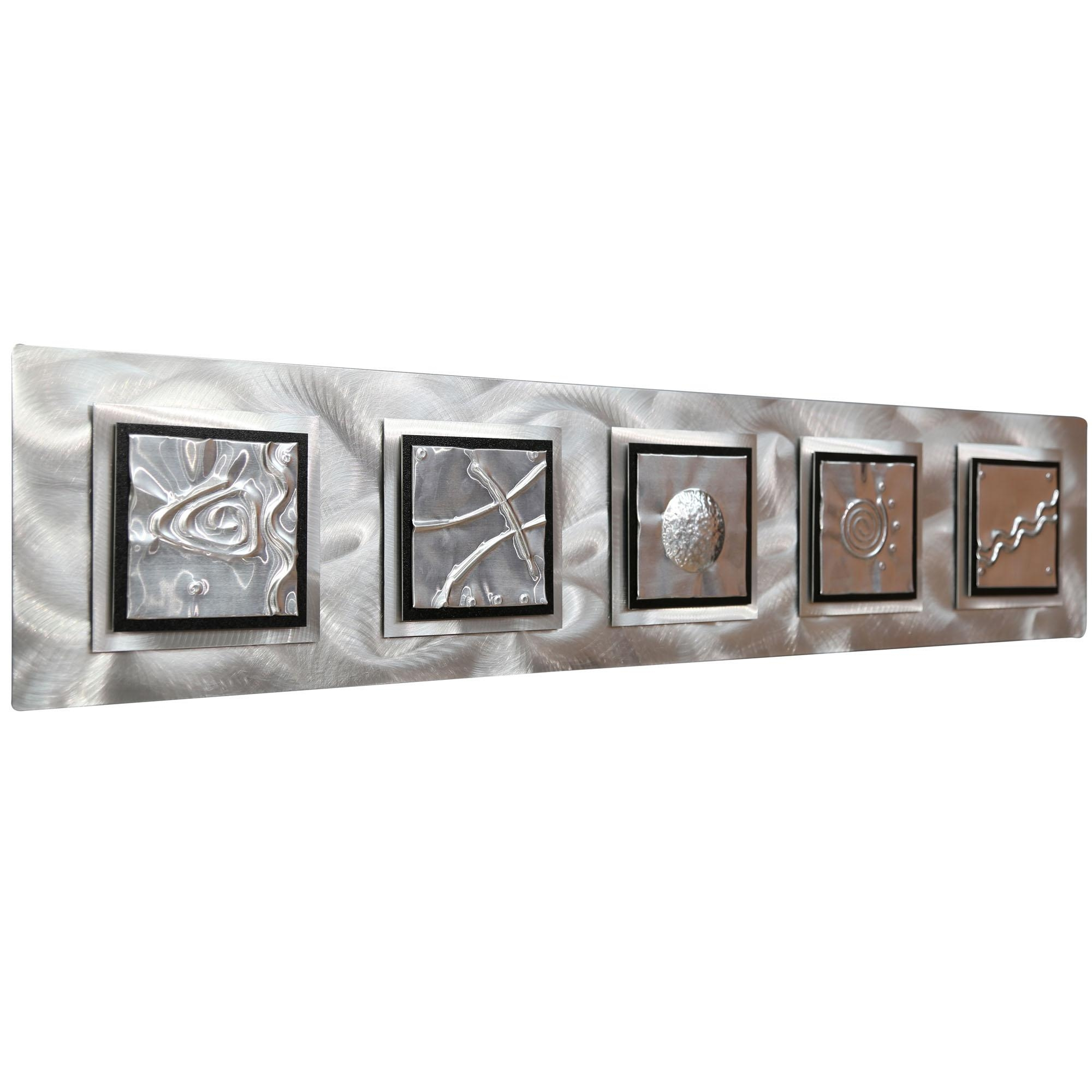5 Elements - Silver/black Zen Metal Wall Art Accentjon Allen within Elements Wall Art