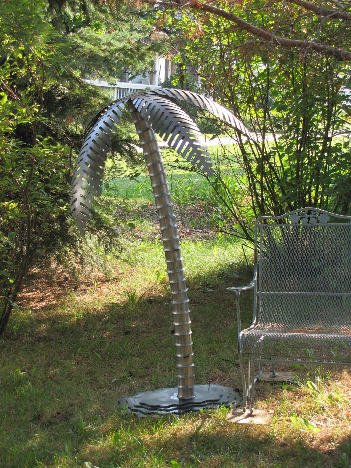 5 Ft Tall Steel Palm Tree | Metal Innovations pertaining to Palm Tree Metal Art