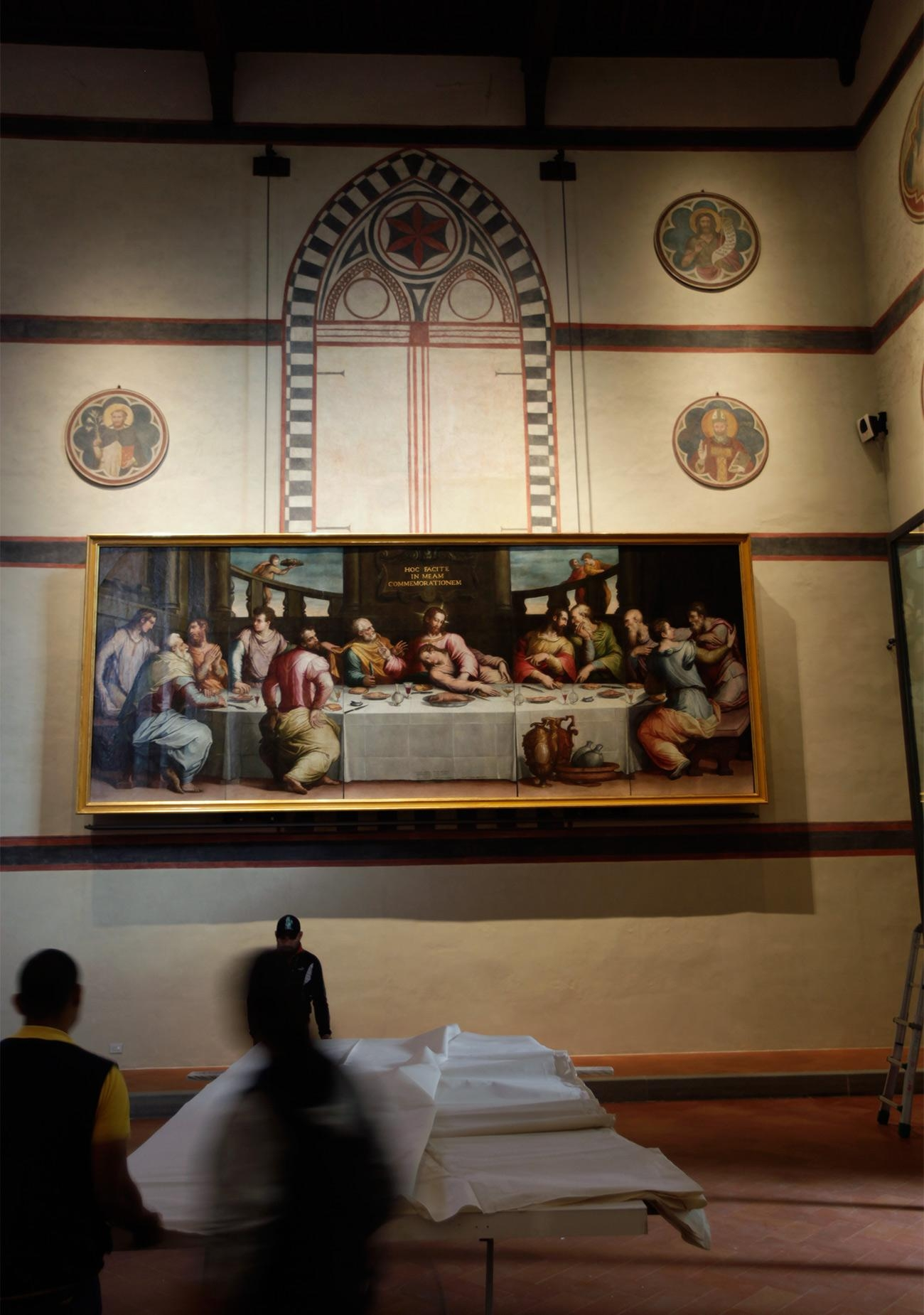 50 Years After The Flood, A Renaissance Painting Restored | The For The Last Supper Wall Art (Image 1 of 20)