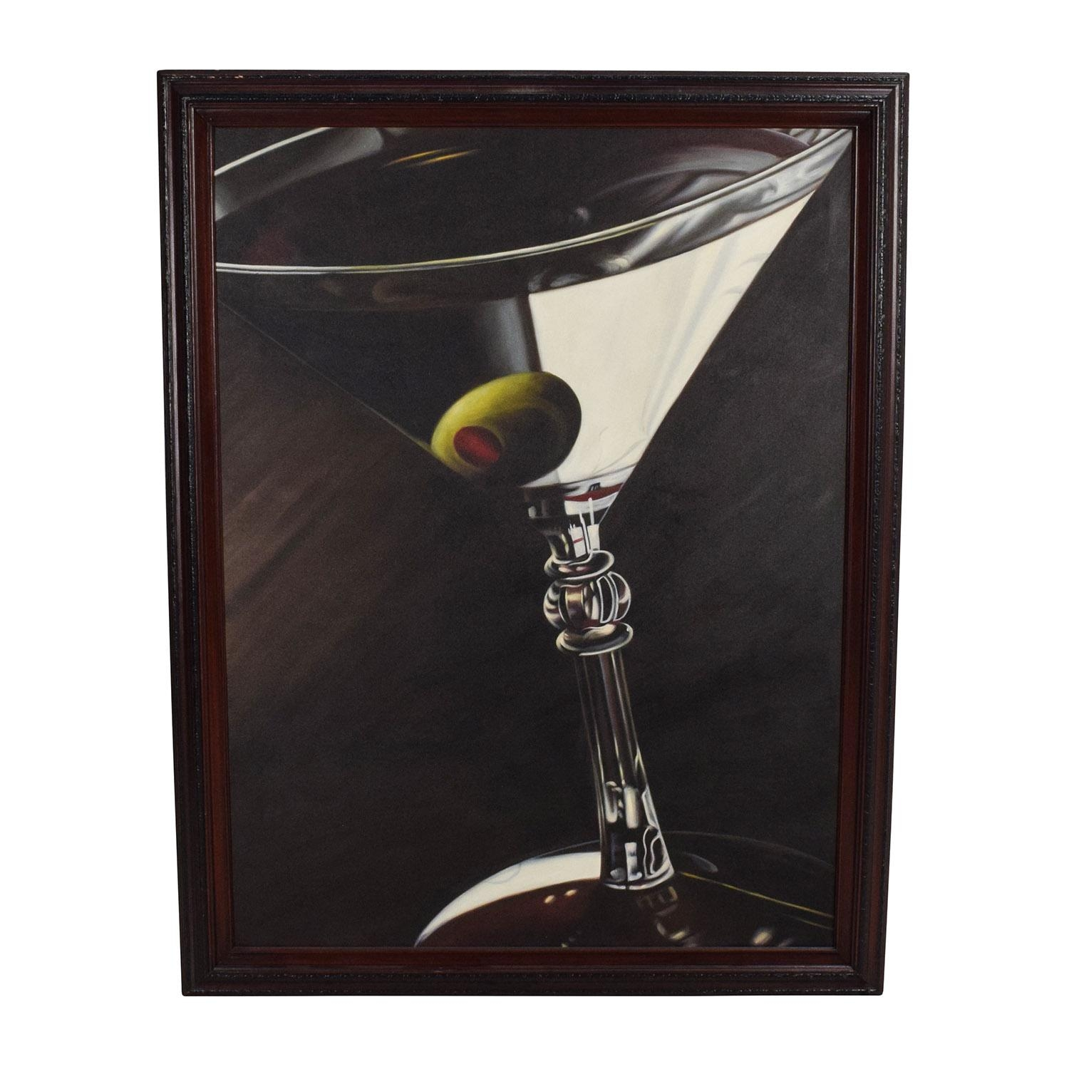54% Off - French Vineyard Metal Wall Hanging / Decor in Martini Glass Wall Art
