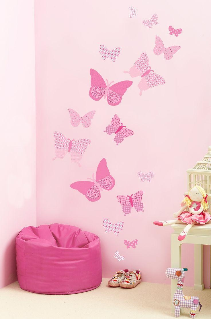 58 Best Interior Wall Art Images On Pinterest | Butterfly Wall For Pink Butterfly Wall Art (Image 5 of 20)