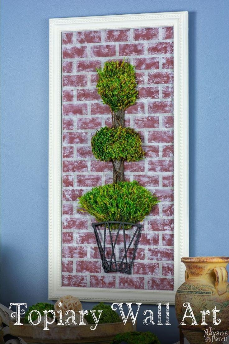 588 Best Deko Images On Pinterest | Diy, Beach And Deko inside Topiary Wall Art
