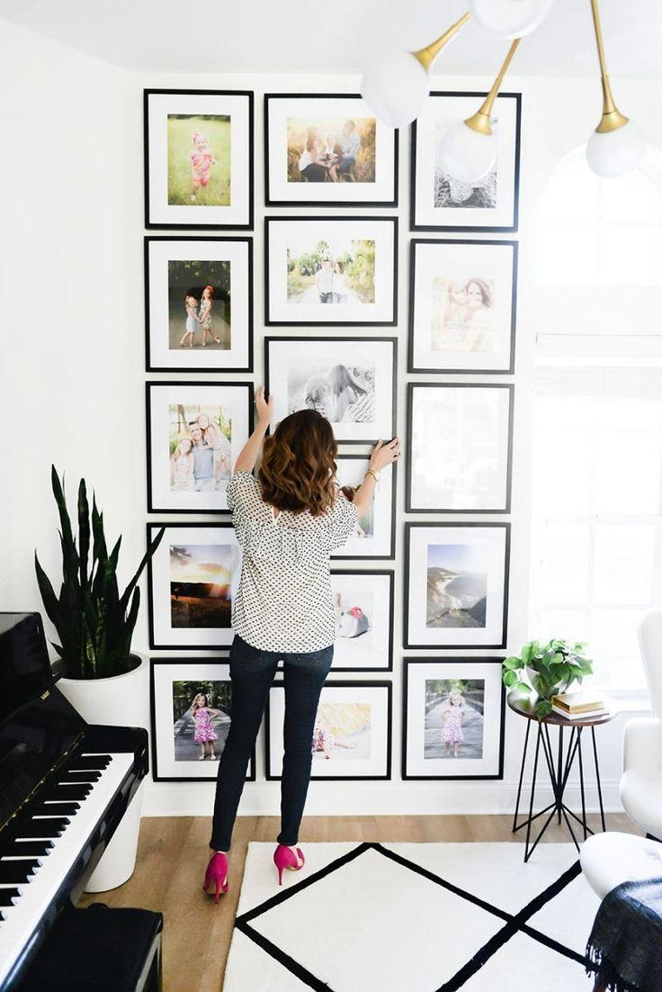598 Best Wall Art Groupings Images On Pinterest | Live, Art Walls Inside Wall Art Frames (Image 1 of 20)
