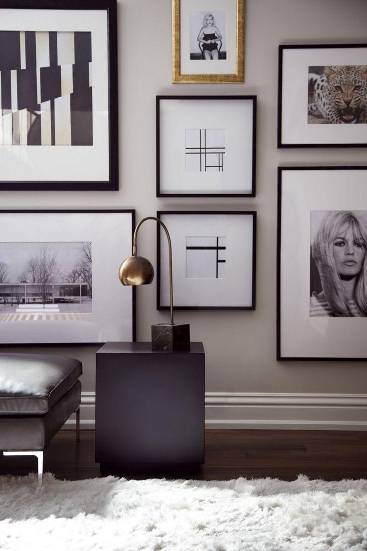 598 Best Wall Art Groupings Images On Pinterest | Live, Art Walls Regarding Black And White Framed Wall Art (Image 1 of 20)