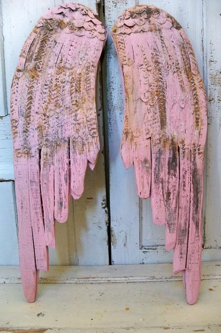 60 Best Wooden Angel Wings Images On Pinterest | Wooden Angel With Angel Wings Sculpture Plaque Wall Art (Image 4 of 20)