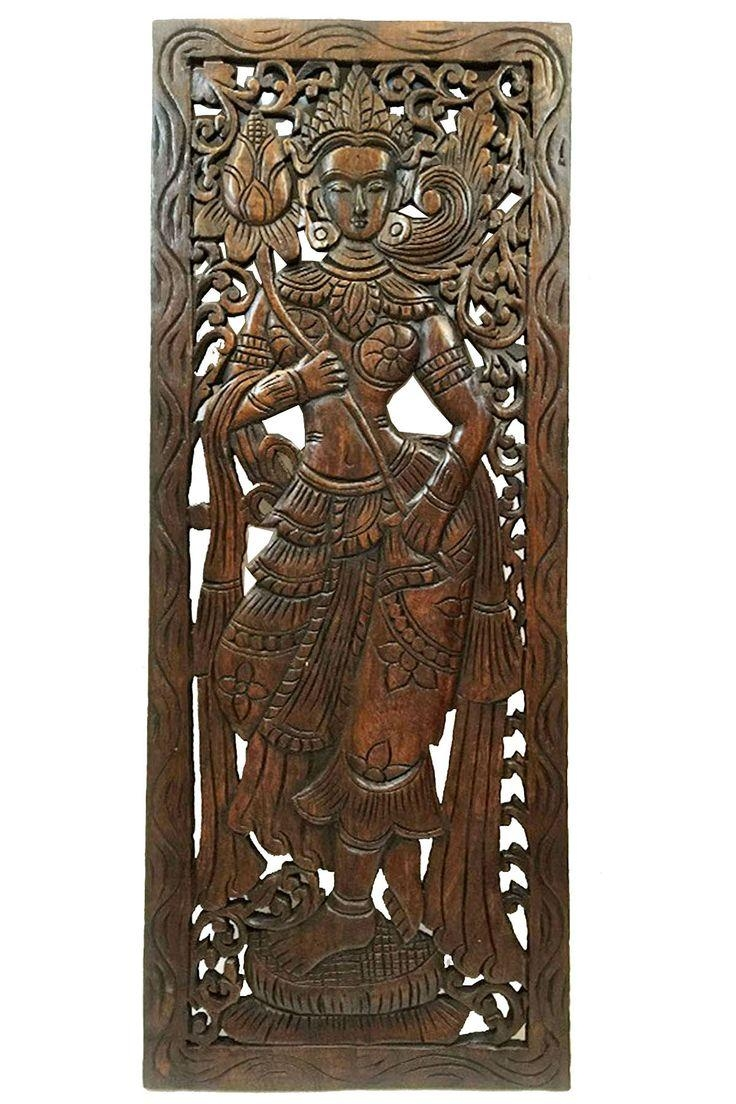 64 Best Asian Home Decor| Carved Wood Wall Decor| Wood Bowls Inside Balinese Wall Art (Photo 7 of 20)