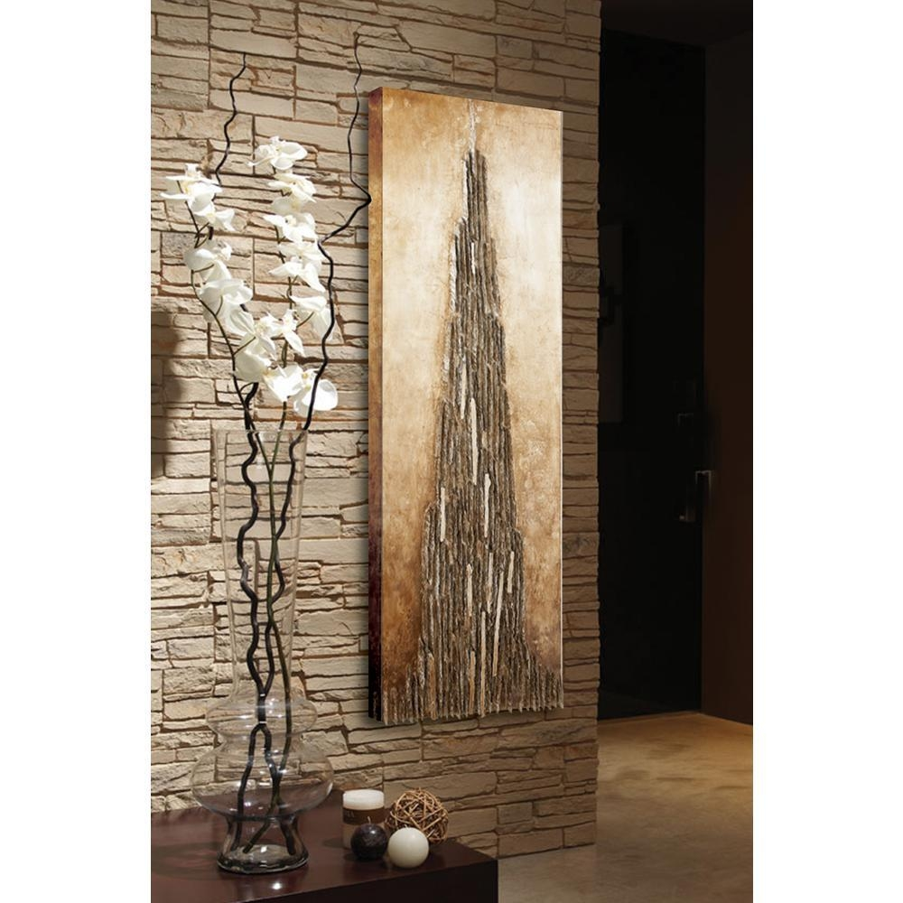 """71 In. X 22 In. """"wood Abstract"""" Wall Art-38552 - The Home Depot for Abstract Wall Art"""