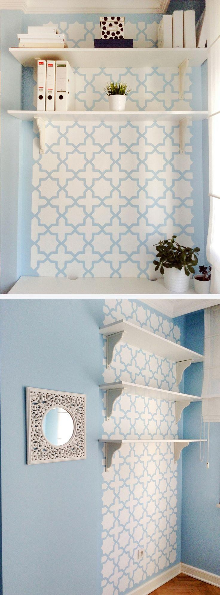 79 Best Interior: Sticker, Stencil Images On Pinterest | Wall For Space Stencils For Walls (View 5 of 20)