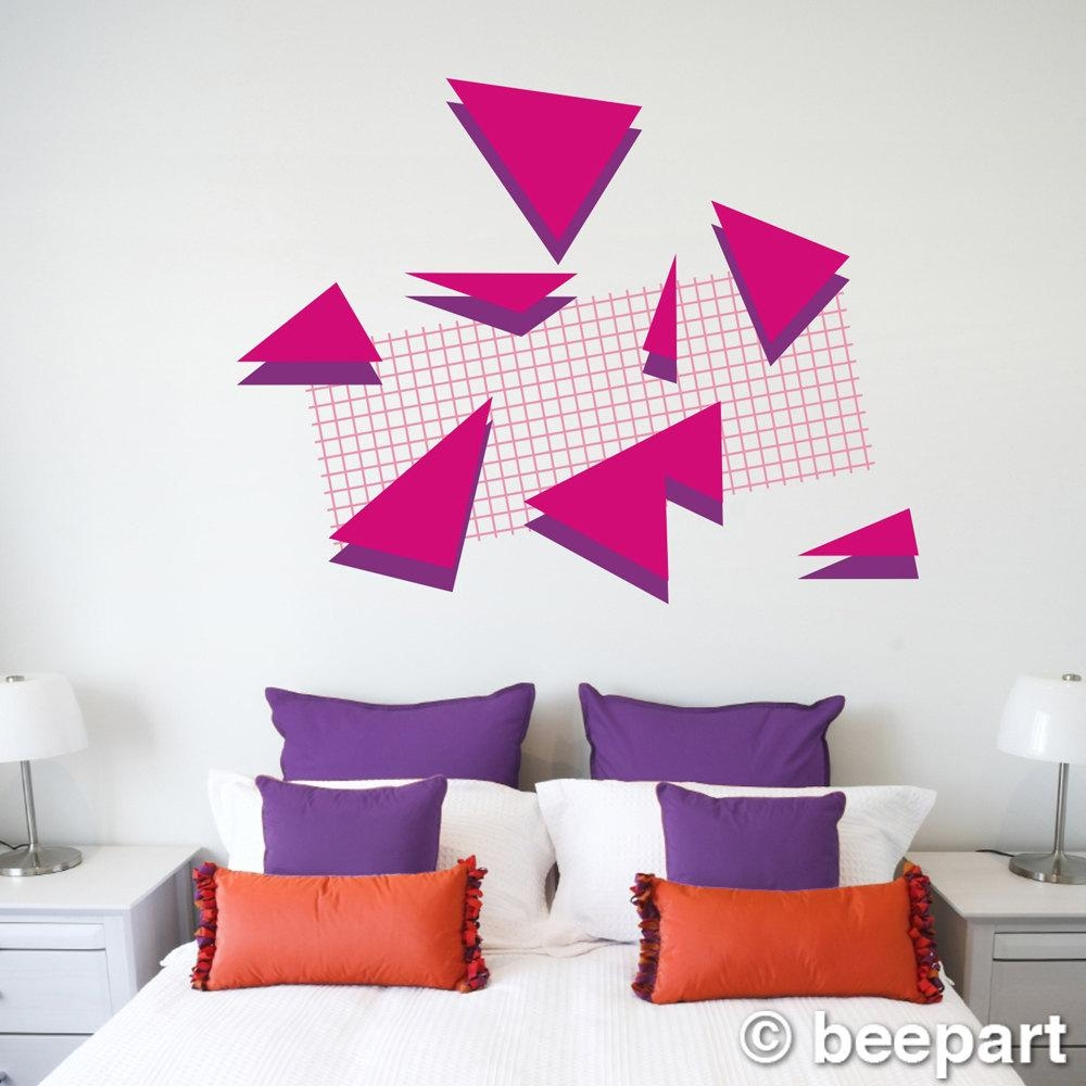 80S Art Deco Wall Decal Set 80S Retro Memphis Group Style Regarding Art Deco Wall Decals (Image 1 of 20)