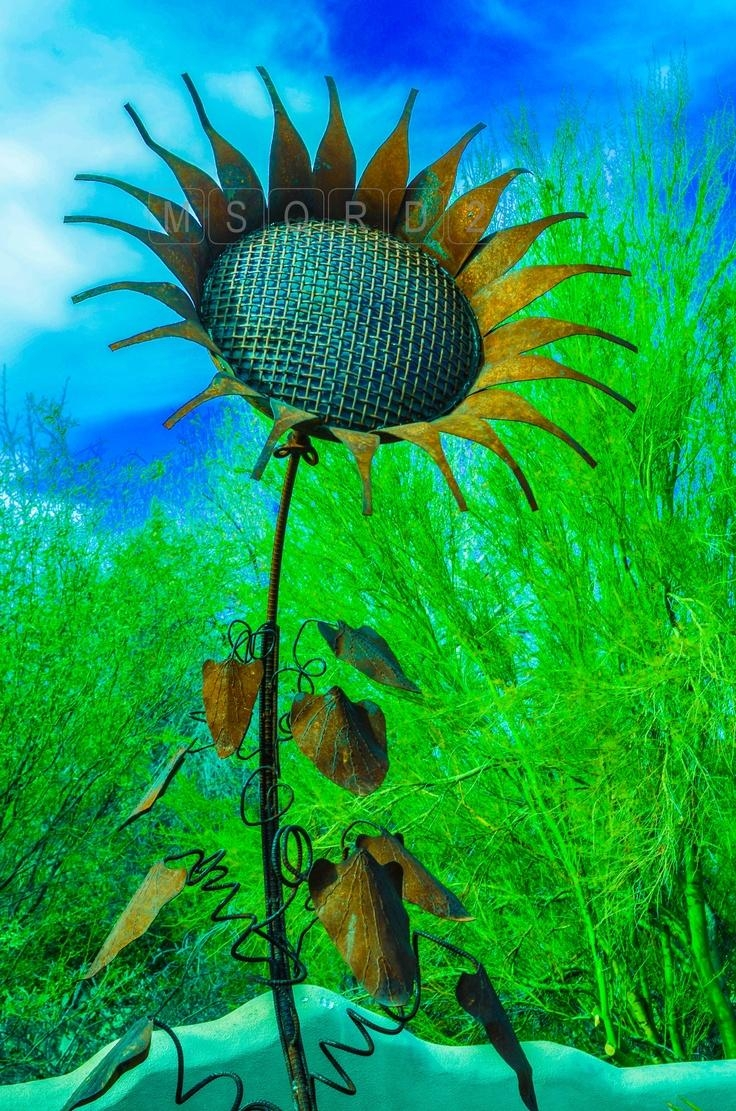 81 Best Metal Flowers Images On Pinterest | Metal Flowers, Welding With Metal Sunflower Yard Art (Image 8 of 20)
