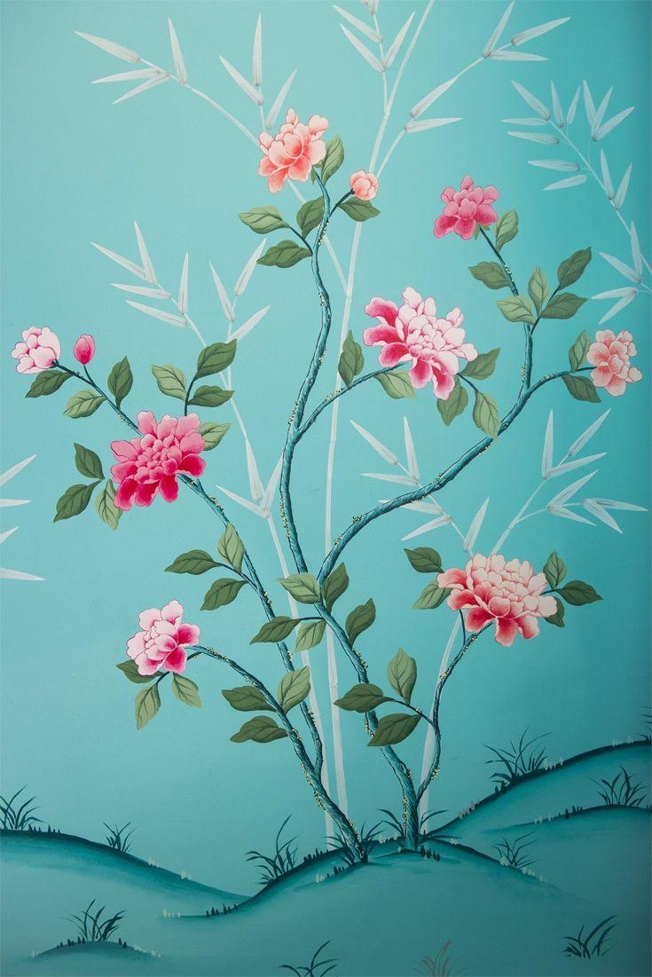 820 Best Chinoiserie  Decorative Painting Images On Pinterest In Chinoiserie Wall Art (Photo 18 of 20)