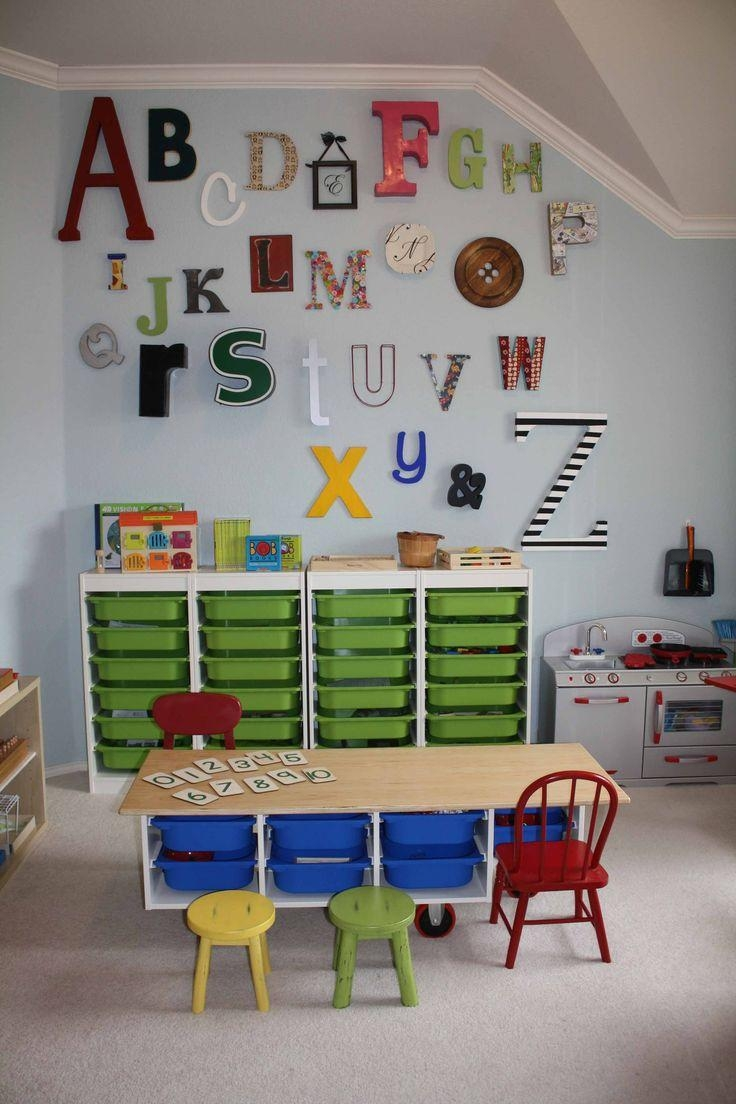 Nursery Classroom Wall Decoration ~ Best preschool classroom wall decals art ideas