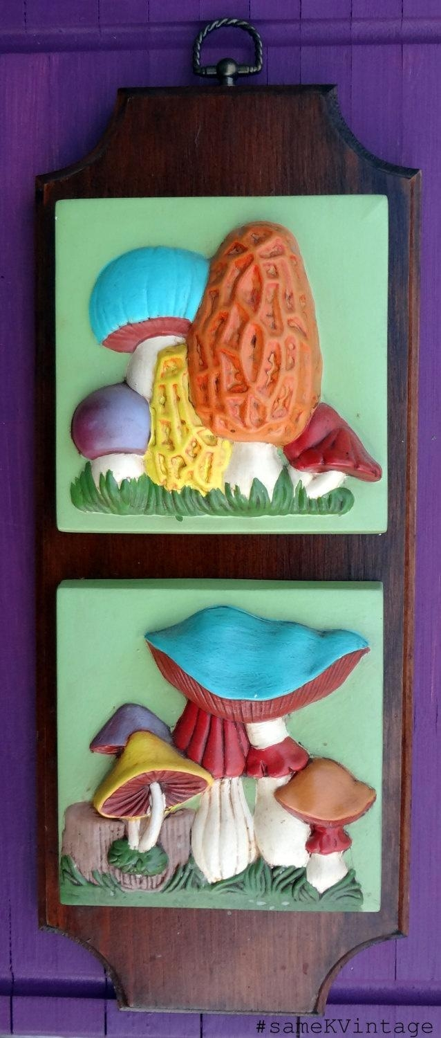 88 Best Vintage Items I Have & Must Have! Images On Pinterest Intended For Mushroom Wall Art (View 20 of 20)
