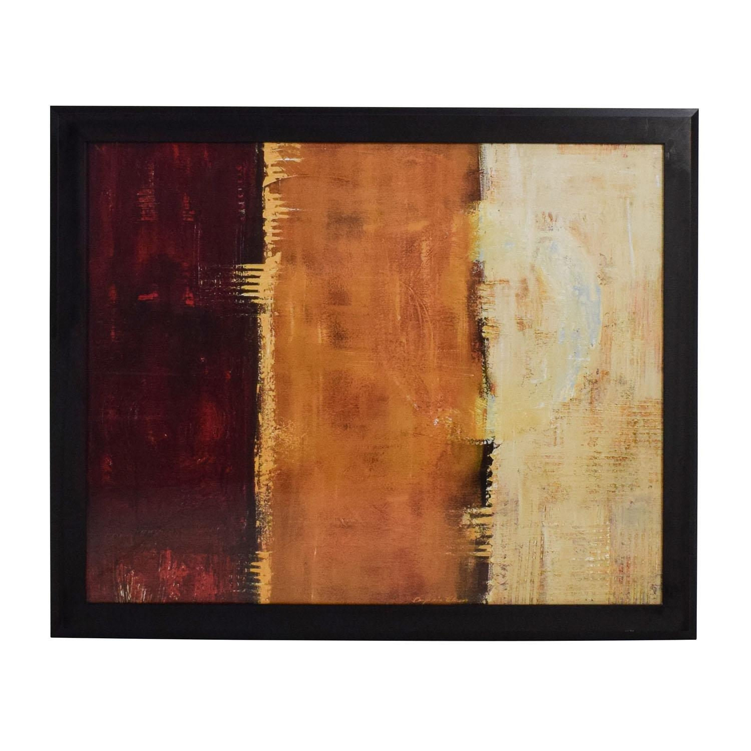 88% Off – Z Gallerie Z Gallerie Framed Canvas Red Orange Yellow Regarding Red And Yellow Wall Art (View 7 of 20)