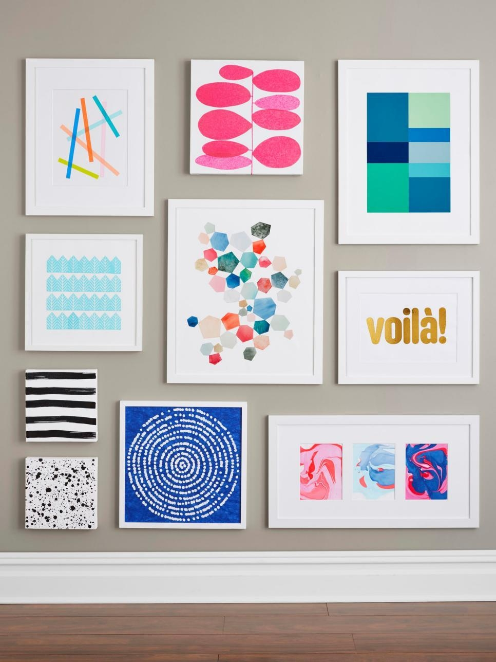 9 Easy Diy Wall Art Ideas | Hgtv With Graphic Design Wall Art (Image 1 of 20)