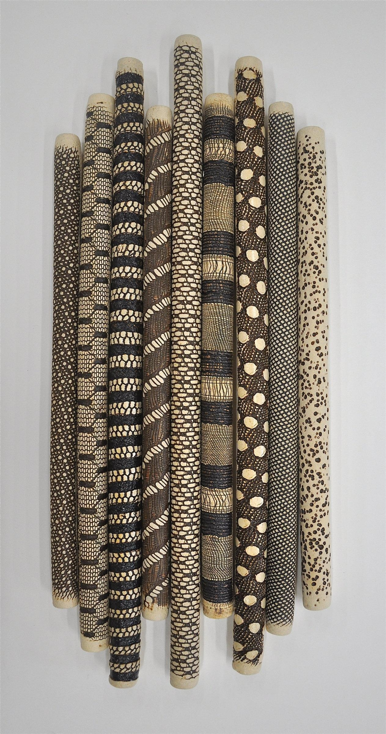 9 Piece Installationkelly Jean Ohl (Ceramic Wall Sculpture Within Large Ceramic Wall Art (View 7 of 20)