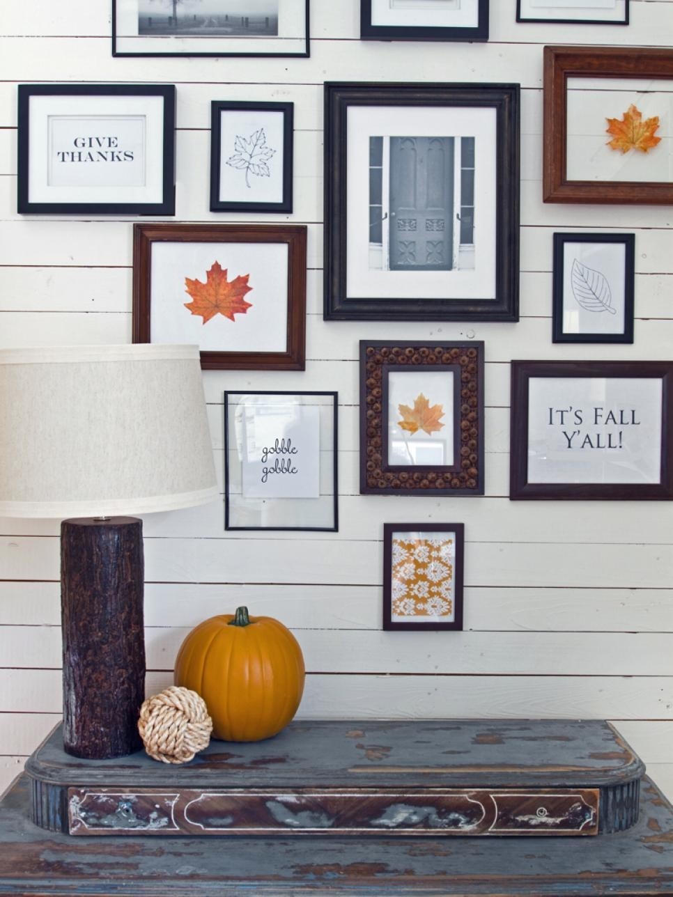 9 Ways To Deck Out Your Walls For Fall | Hgtv For Autumn  Inspired Wall Art (Photo 4 of 20)