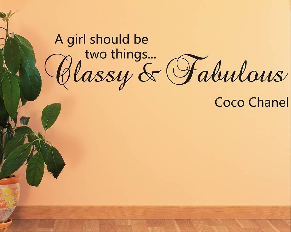 A Girl Should Be Classy And Fabulous – Coco Chanel Pertaining To Coco Chanel Wall Decals (View 13 of 20)
