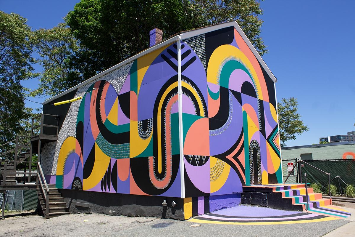 A House In Allston Has Become A Public Art Project Throughout Red Sox Wall Art (Image 2 of 20)