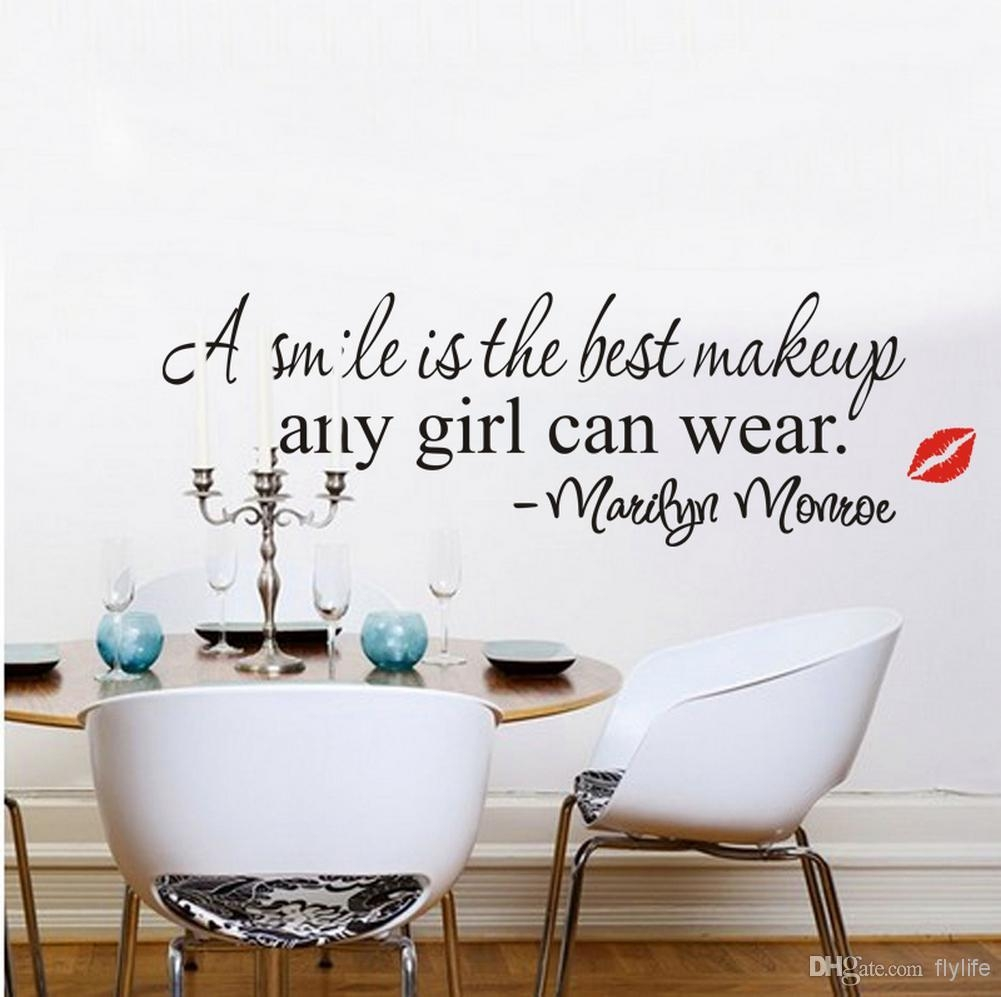 A Simile Is The Best Makeup Any Girl Can Wear Marilyn Monroe With Marilyn Monroe Wall Art Quotes (View 10 of 20)