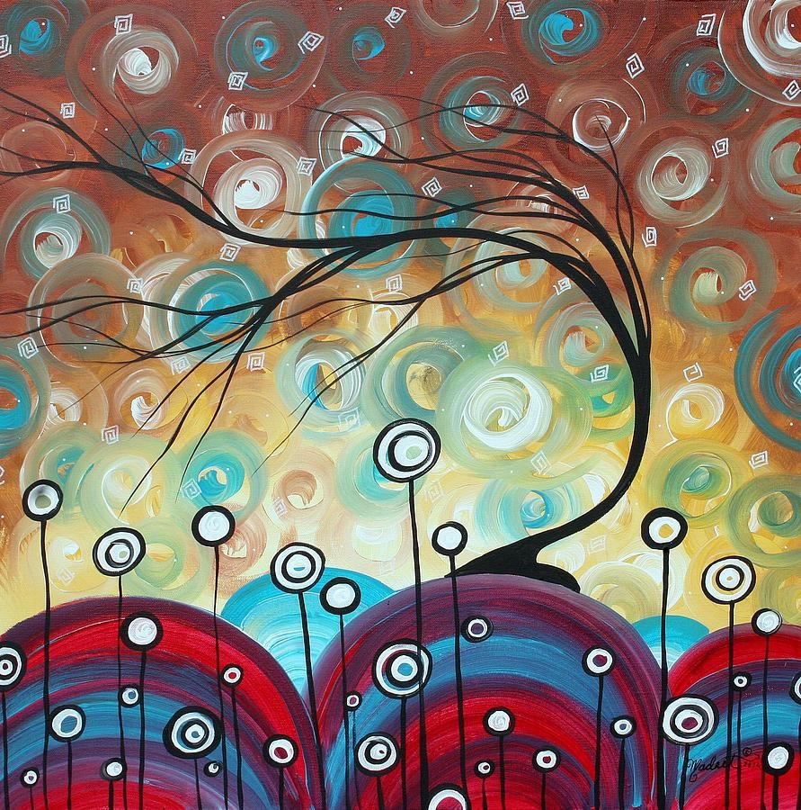 Abstract Art Original Landscape Painting Everlastingmadart Pertaining To Megan Duncanson Metal Wall Art (Image 3 of 20)
