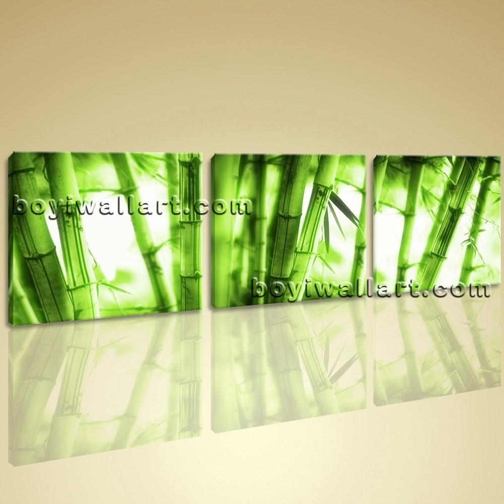 Abstract Feng Shui Painting Print On Canvas Bamboo Wall Art Home Deocr Within Feng Shui Wall Art (View 17 of 20)